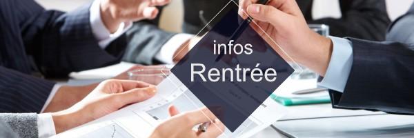 Read more about the article Informations sur la rentrée